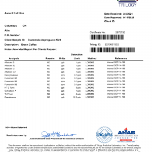 Ascent Nutrition S210631332 Amended Report-1
