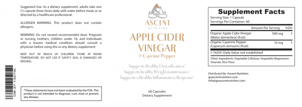 Herbal Extracts - Apple Cider Vinegar + Cayenne Pepper