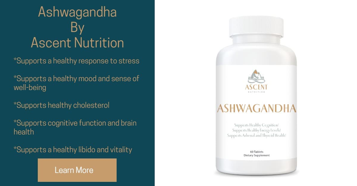 Ashwagandha by Ascent Nutrition - Supports a healthy response to stress