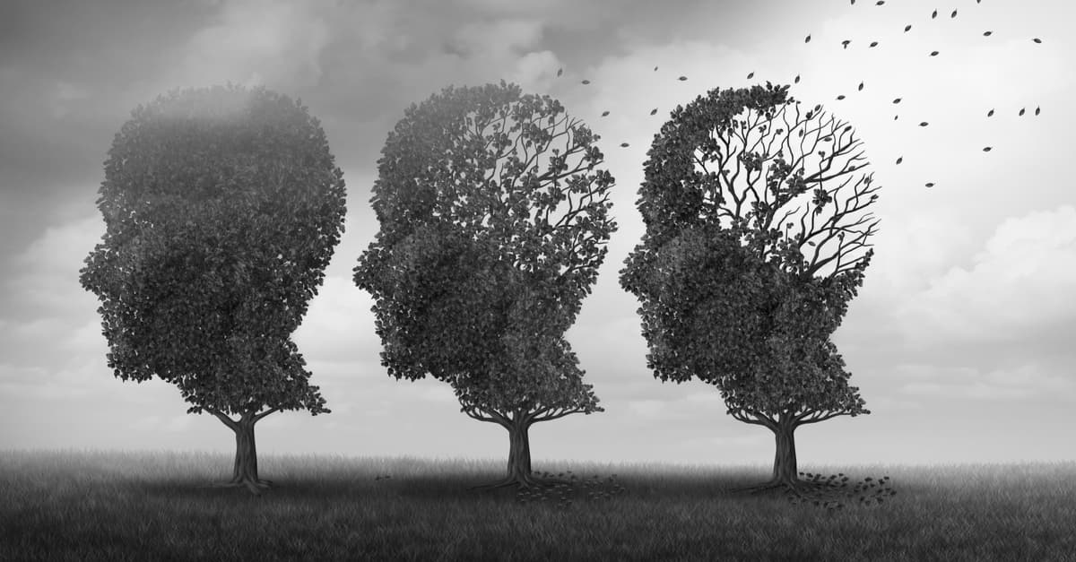 Concept of memory loss due to aging brain