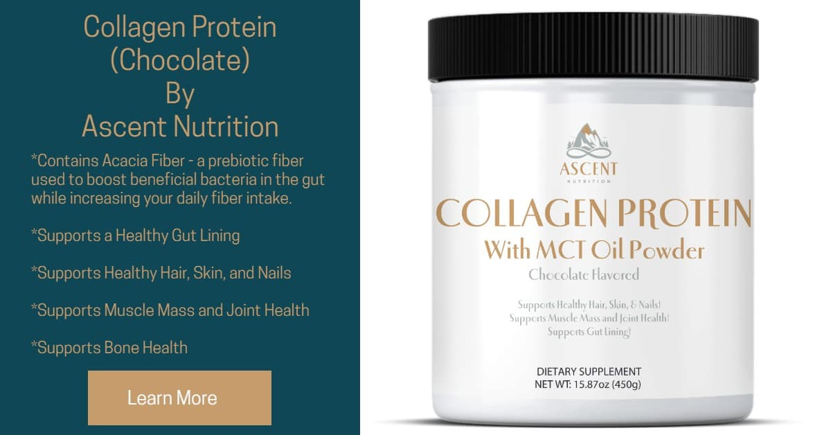 Collagen Protein with MCT oil powder (Chocolate flavor) by Ascent Nutrition