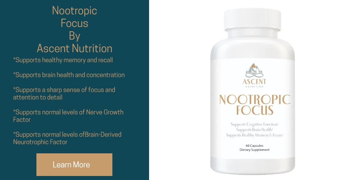 Improve memory with Nootropic Focus from Ascent Nutrition